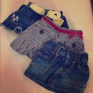 Set of 3 infant skirts